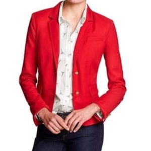 Banana republic red blazer size 2
